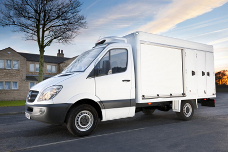 The Gray & Adams unit, based on a 3.5-tonne Mercedes-Benz Sprinter chassis, is described as more aerodynamic and futuristic in appearance than its competitors' products