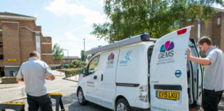 Electric Nissan e nv200 At Home With Housing Association