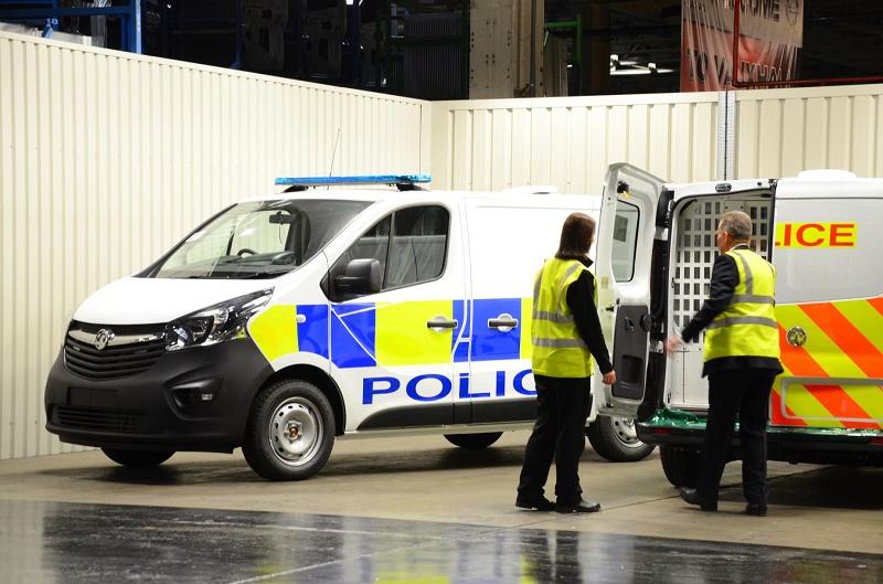 Vauxhall police vans