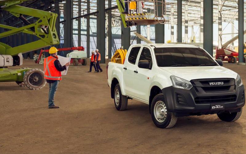 Isuzu D Max on building site