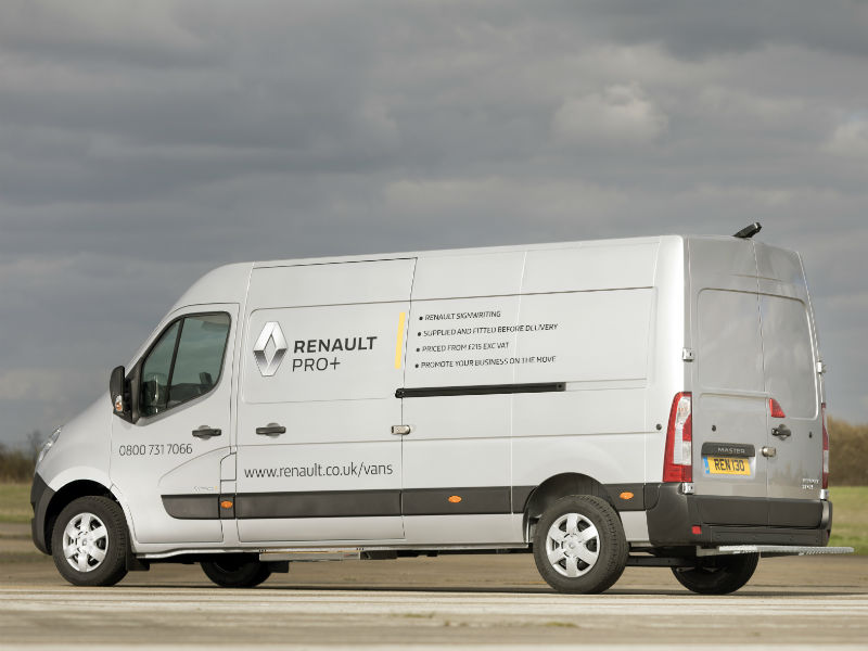 Renault Pro Commercial Vehicles offers manufacturer supplied van sign writing