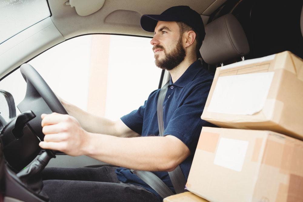 self employed van courier