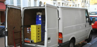 Delivery van in London