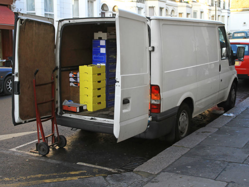 Delivery van in London