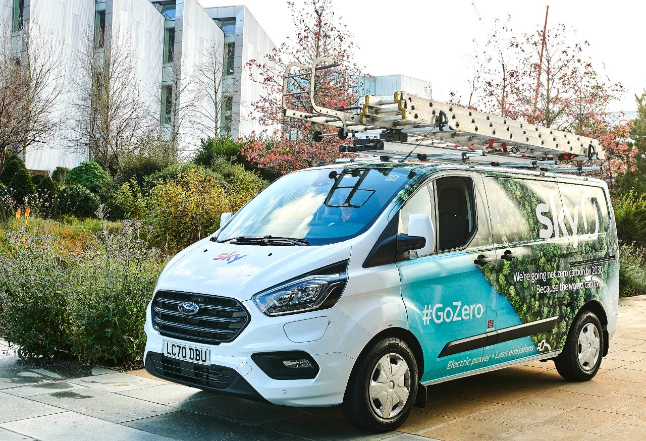 Sky buys 151 Ford Transit Custom PHEVs to become net zero carbon by 2030 4