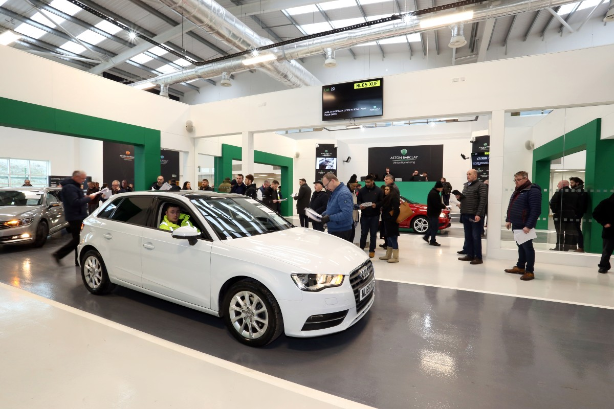 Audi A3 in white at Wakefield 1